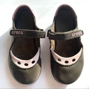 Girls Crocs Velcro Strap Sandals